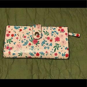 Floral Kate Spade Button Closure Wallet